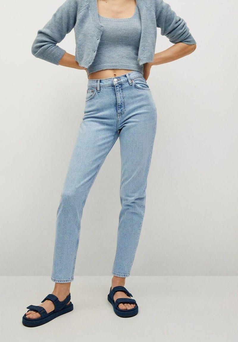 Mango - NEWMOM - Slim fit jeans - lichtblauw