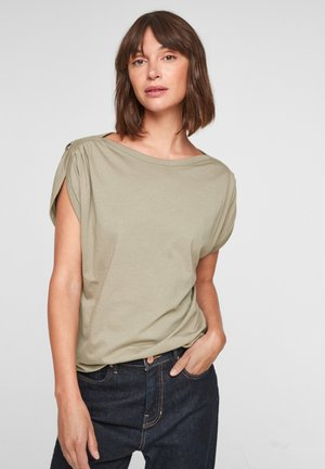 LOOSE FIT - T-shirt print - khaki
