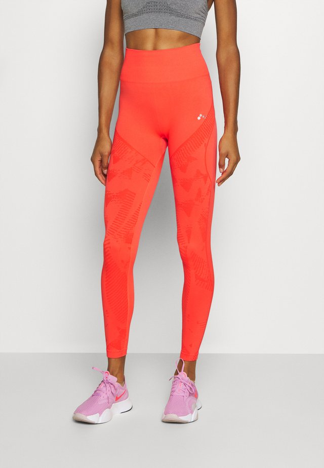 ONPJASE CIRCULAR  - Collants - fiery coral