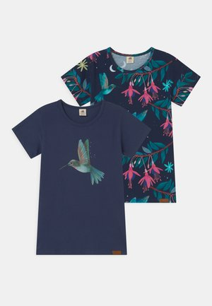 HUMMINGBIRD 2 PACK - Print T-shirt - dark blue