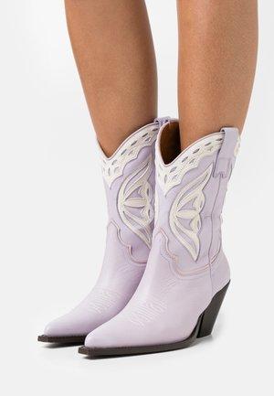 Cowboy/Biker boots - malva/talco candy