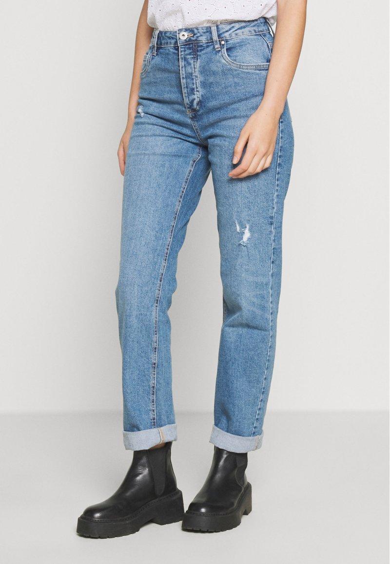 Cotton On - HIGH STRETCH - Straight leg jeans - bronte blue