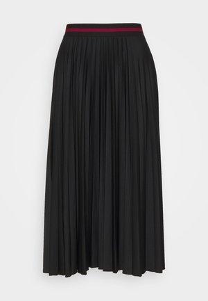 PLEATED SKIRT - Jupe trapèze - black