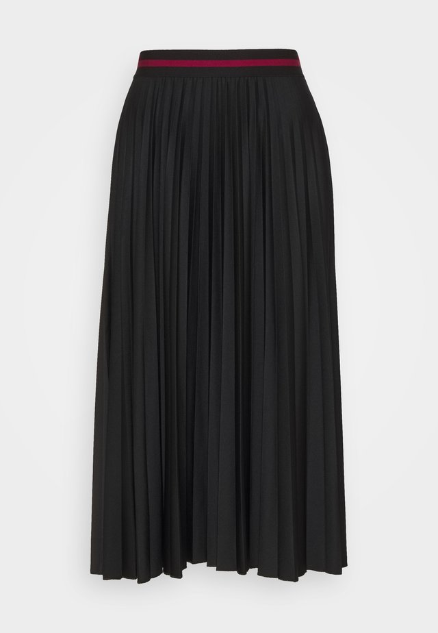 PLEATED SKIRT - Spódnica trapezowa - black