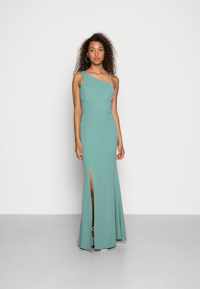 SUZANNA ONE SHOULDER DRESS - Iltapuku - sage green