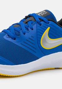 Nike Performance - STAR RUNNER 2 UNISEX - Neutral running shoes - game royal/metallic silver/black/speed yellow - 5