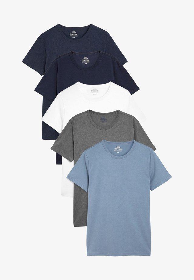FIVE PACK - T-shirt basique - blue