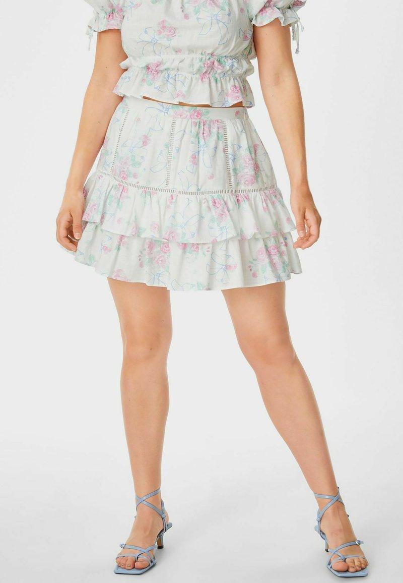 C&A - ARCHIVE - Mini skirt - white