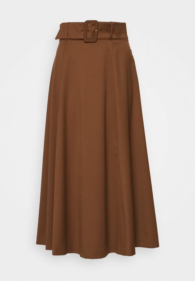 BELTED - Maxi skirt - gingerbread