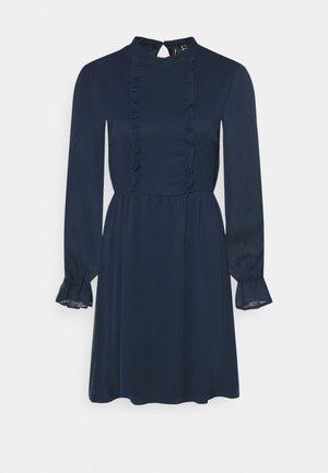 VMMOLLIE FRILL SHORT DRESS - Day dress - navy blazer