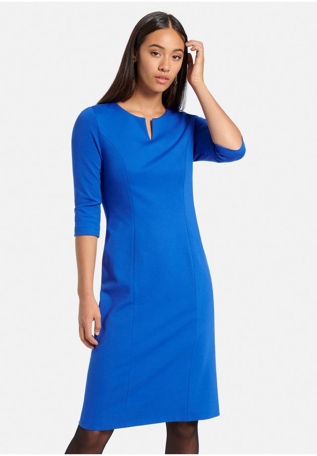 Jersey dress - kornblumenblau