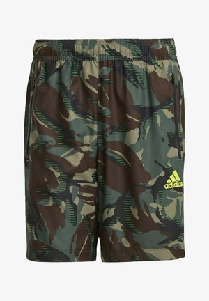 CAMOUFLAGE SHO DESIGNED2MOVE PRIMEGREEN TRAINING WORKOUT SHORTS - Sports shorts - green
