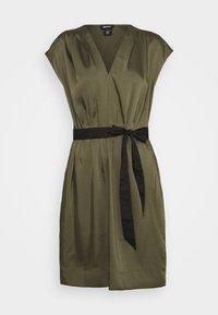 DKNY - CAP V NECK DRESS - Day dress - rosemary - 5