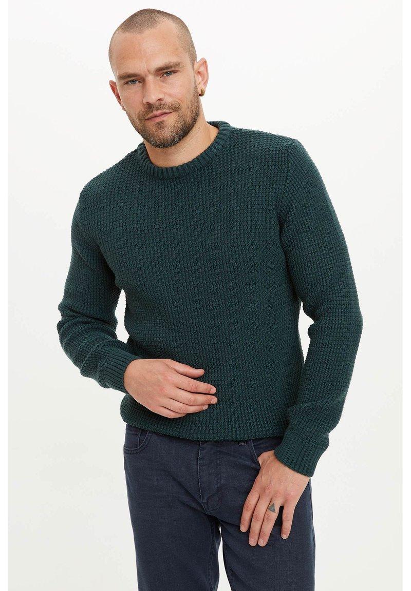 DeFacto - Stickad tröja - green
