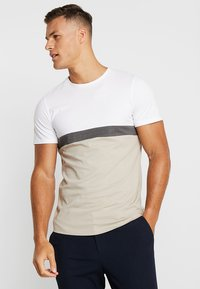 Jack & Jones PREMIUM - JPRNATHAN TEE CREW NECK SLIM FIT - Print T-shirt - string - 0