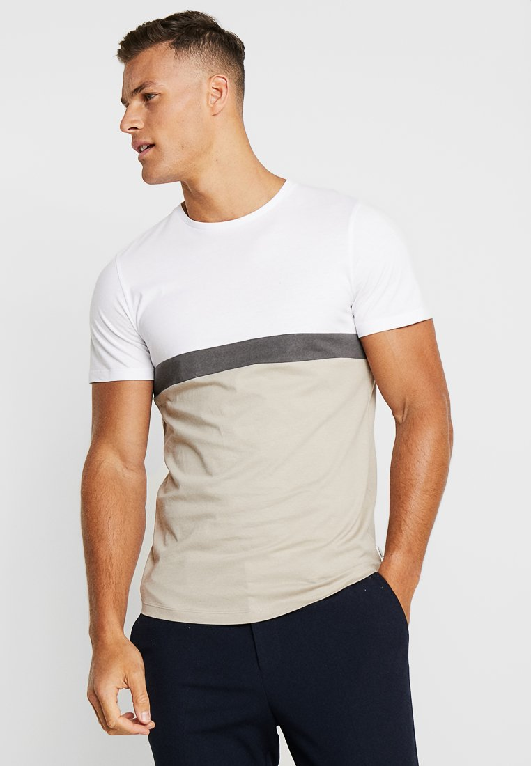 Jack & Jones PREMIUM - JPRNATHAN TEE CREW NECK SLIM FIT - Print T-shirt - string
