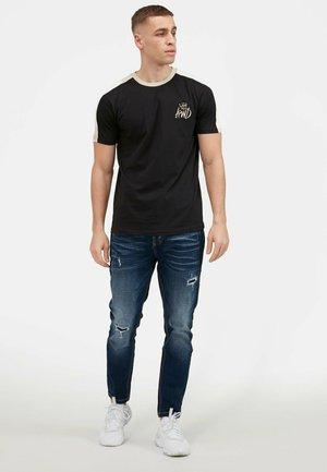 2PACK - Print T-shirt - oatmeal / black