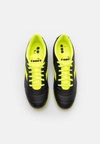 Diadora - PICHICHI 3 TF - Astro turf trainers - black/fluo yellow - 3