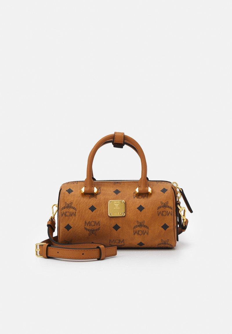 MCM - ESSENTIAL VISETOS ORIGINAL BOSTON - Handbag - cognac