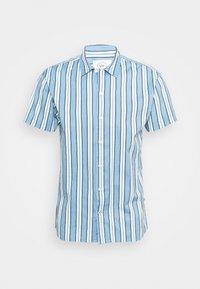 Kronstadt - CUBA PRINTED STRIPE SHIRT - Shirt - light blue - 4