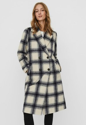 VMHAILEY CHECK LONG JACKET - Classic coat - oatmeal
