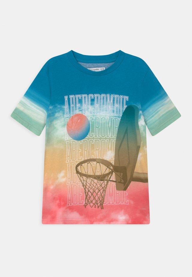 IMAGERY PRINT LOGO - T-shirt med print - blue