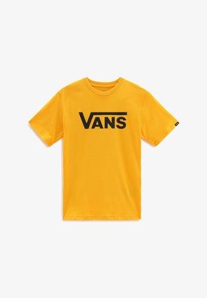 BY VANS CLASSIC BOYS - T-shirt print - saffron/black