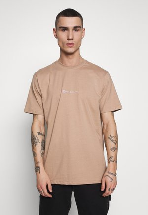 ESSENTIAL SIGNATURE  - Basic T-shirt - tan