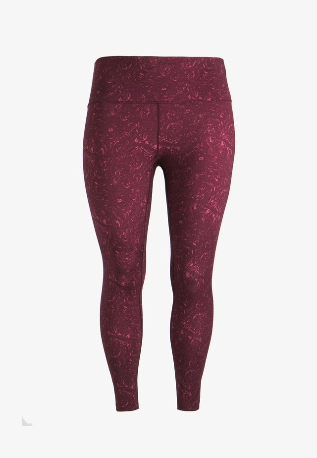 LUCY PRINTED - Leggings - Trousers - red