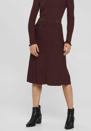 A-line skirt - bordeaux red
