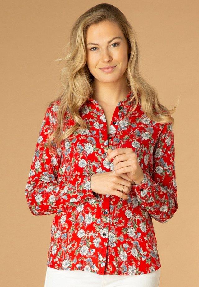Overhemdblouse - red/multi-colour