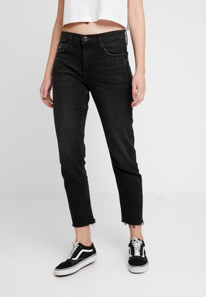 IZZY HIGH RISE SLIM ANKLE  - Slim fit jeans - black denim