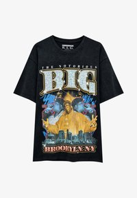 PULL&BEAR - THE NOTORIOUS B.I.G - T-shirt con stampa - mottled black - 4