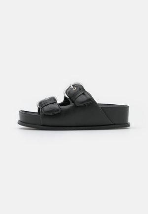 MULES - Pantofle - black