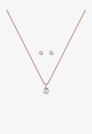 GLASS CRYSTAL - Kolczyki - rose gold