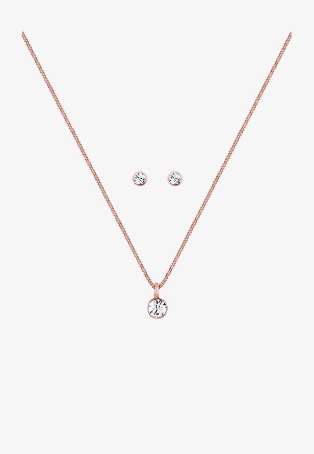 GLASS CRYSTAL - Oorbellen - rose gold
