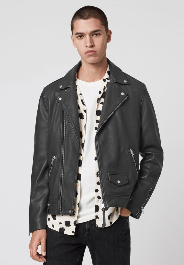 MILO - Leather jacket - grey