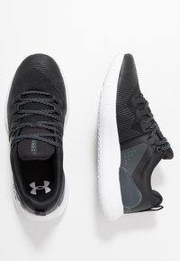 Under Armour - HOVR RISE - Sports shoes - black/white - 1