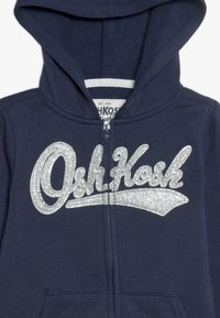OshKosh - TODDLER LOGO HOODIE - Mikina na zip - dark blue - 4