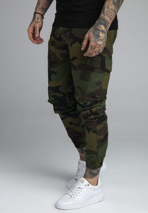FITTED CUFF PANTS - Cargo trousers - green