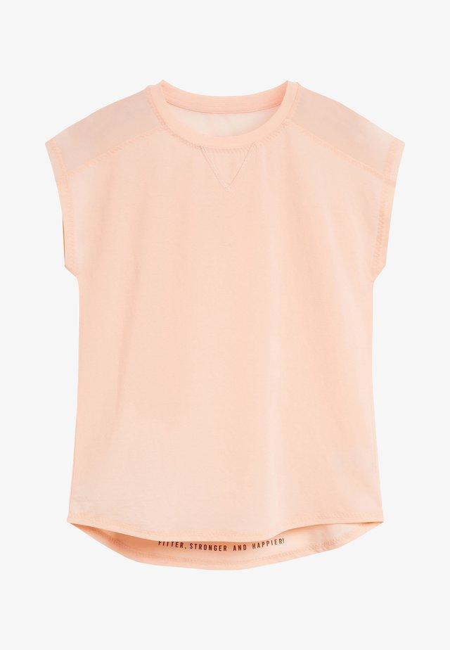 SHORT SLEEVE MESH PANEL - T-shirt imprimé - pink
