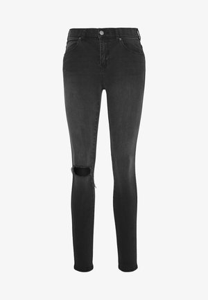 LEXY - Jeans Skinny Fit - off black destroy