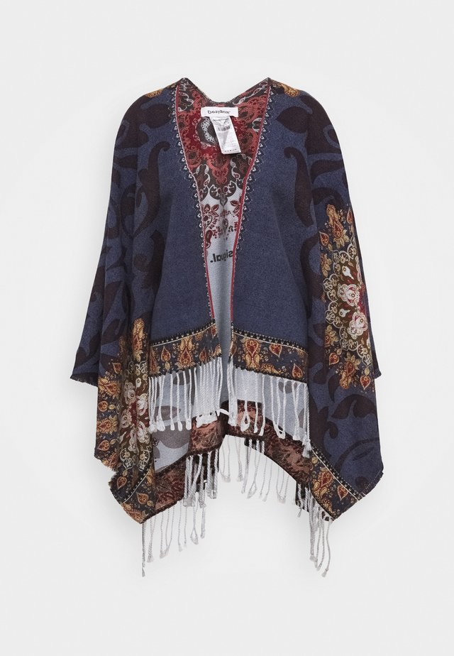 PONCHO TAPESTRY REVERSIBLE - Cape - blue