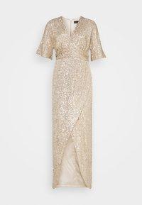 EXCLUSIVE V NECK DRESS - Abito da sera - gold