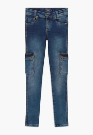 GIRLS CARGO - Skinny džíny - medium blue