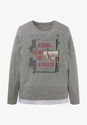Long sleeved top - drizzle melange gray