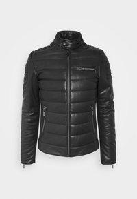 KARL LAGERFELD - BIKER JACKET - Leather jacket - black - 6