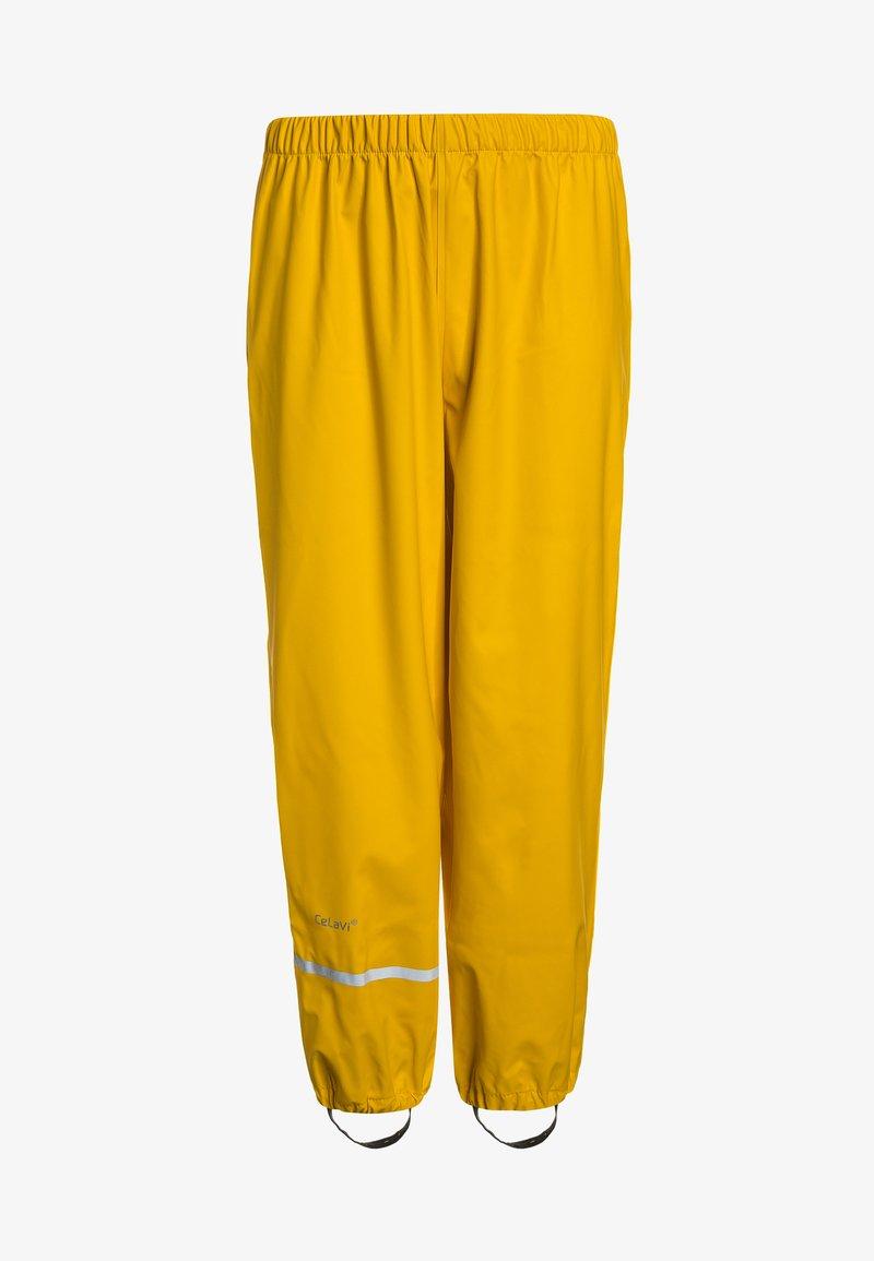 CeLaVi - RAINWEAR PANTS  RAINWEAR UNISEX - Rain trousers - yellow