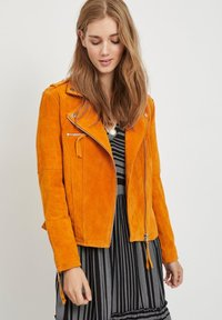 Vila - VICRIS - Leather jacket - golden oak - 3