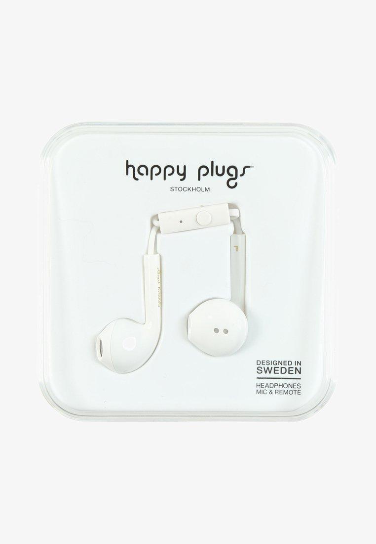 Happy Plugs - Sluchátka - white